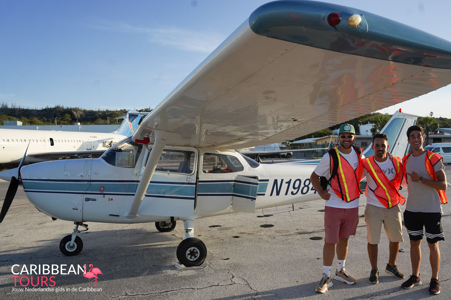 Rondvlucht over Curacao